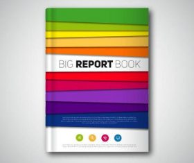 Colorful book cover vectors