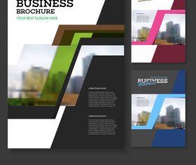 Colorful color Brochure cover design vector