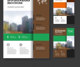 Colorful color square brochure cover design vector