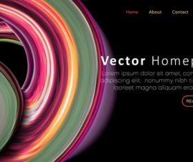 Colorful website template homepage design vector