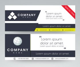 Company special offer sale banner vector