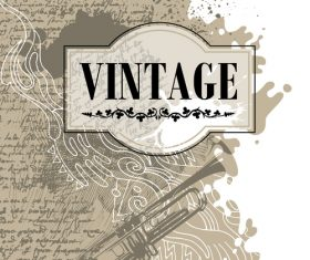 Conceptual design of vintage banner vector