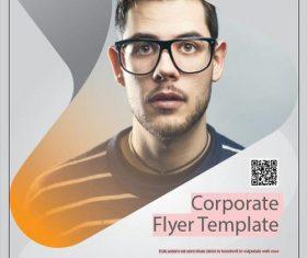Corporate Flyer Template Brown vector