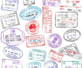 Country passport stamp vectors