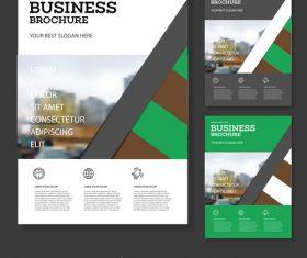 Creative Business Brochure cover design vector