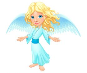 Cute angel cartoon vectors