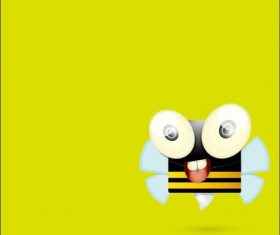 Cute cartoon bee vectors