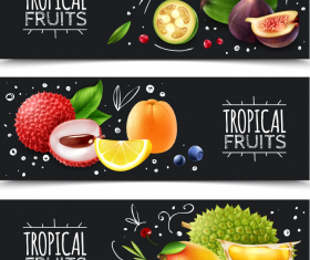 Summer fruit sale promotion banner vectors