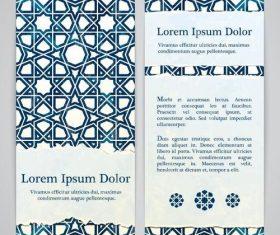 Dark blue plaid Pattern banner vector