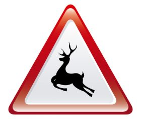 Deer crossing sign design vector