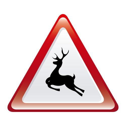 Deer crossing sign design vector