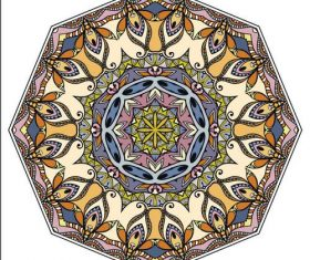 Delicate mandala ornament pattern vector