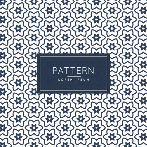 Diamond flower creative pattern background vector