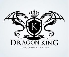 Dragon king logo vector