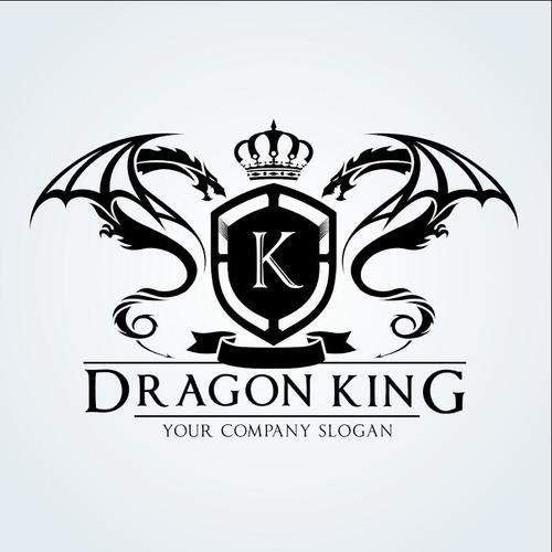Dragon king logo vector