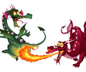 Dragons Isolated vectors