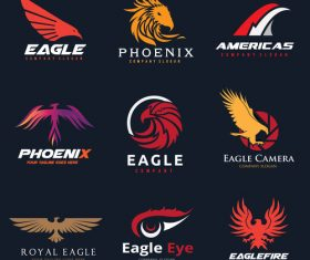 Eagle logo collection vector