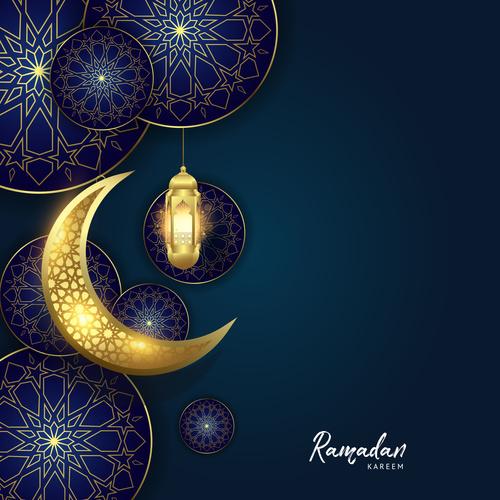 Eid mubarak purple luxury vector design vectors