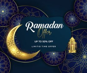 Eid mubarak sale background vector design vectors