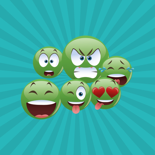 Emoticon pack icon vector