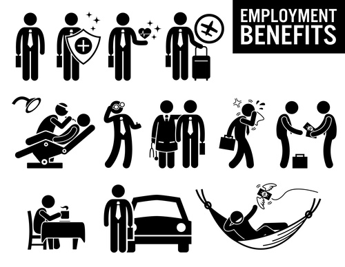 Employment benefits icon vector