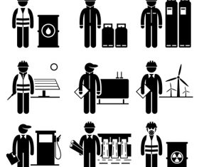 Engineer cartoon icon vector