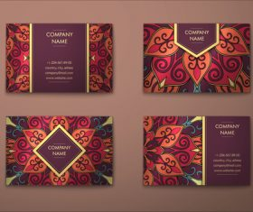 Ethnic Ornaments card vector