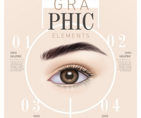 Eye Infographic Template Design vector
