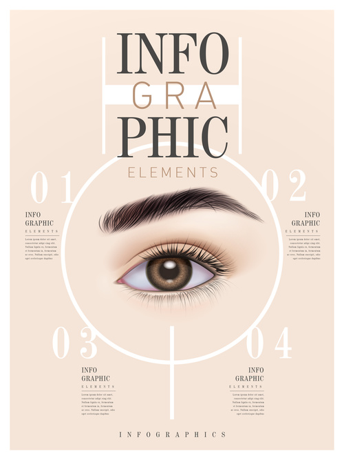 Eye Infographic Template Design vector