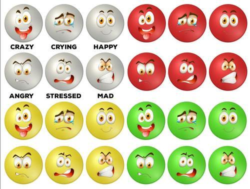 Facial expression collection vectors