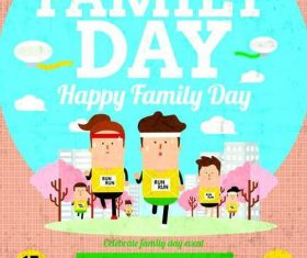 Family day flyer psd template