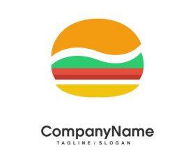 Fastfood burger vector logotype
