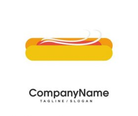 Fastfood hot dog vector logo