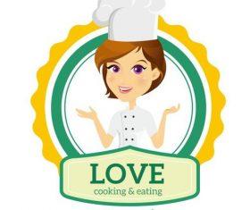 Female chef character design vectors