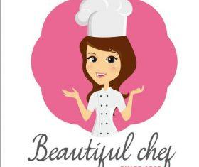 Female chef vectors