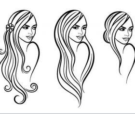Female sketch vectors
