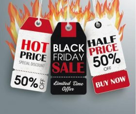 Flame sale price stickers vectors