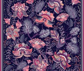 Floral seamless pattern vectors 03