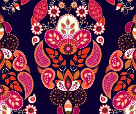 Flower seamless pattern background vectors
