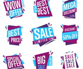 Folding sales label vector