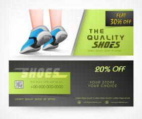Footwear discount sale banner vector