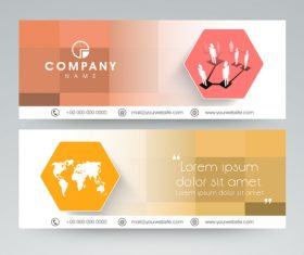 Four shades of website Header and Banner vector