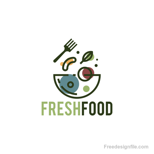 Fresh food logo creative design vectors 02