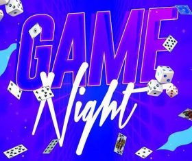 Game night maxi club party psd flyer