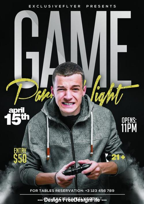Game sports party psd template