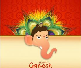 Ganesh Chaturthiand cover vector