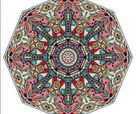 Geometric pattern ornament mandala vector