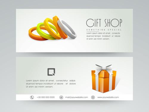 Gift Shop Banner Vector Free Download
