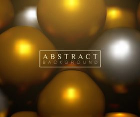 Golden 3D bright color geometrical spheres backgrounds vectors