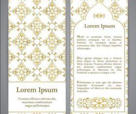 Golden plaid Pattern banner vector